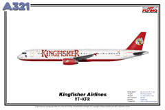 Kingfisher Airlines Reg VT KFR